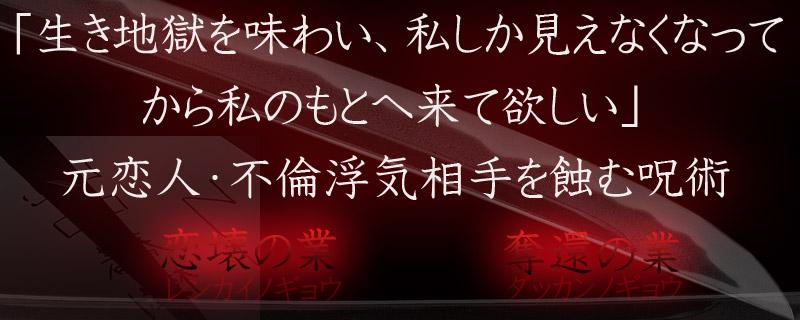 対象者を離婚・破局へ~絶鬼恋壊(ゼッキレンカイ)